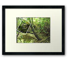 Protruding natures lines edit #1 Framed Print