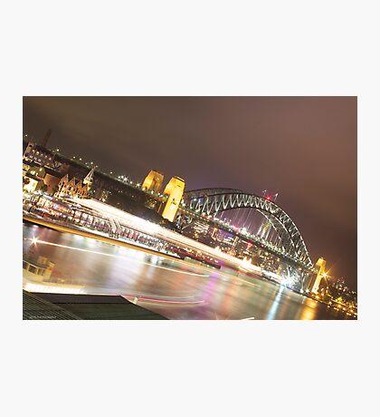 Sydney Harbour Lights Photographic Print