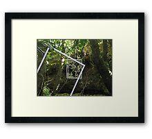 Protruding natures lines edit #3 Framed Print