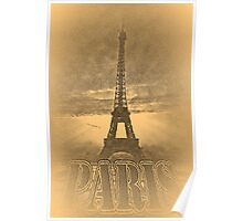 Vintage Eiffel Tower Paris #1  Poster