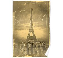 Vintage Eiffel Tower Paris #3 Poster