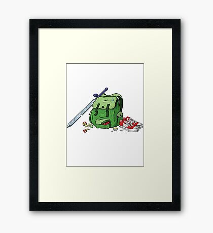 Adventure Pack Framed Print