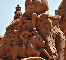 Humpty Dumpty sand sculpture by Lozzar Landscape