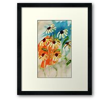 These will make you smile, watercolor Framed Print