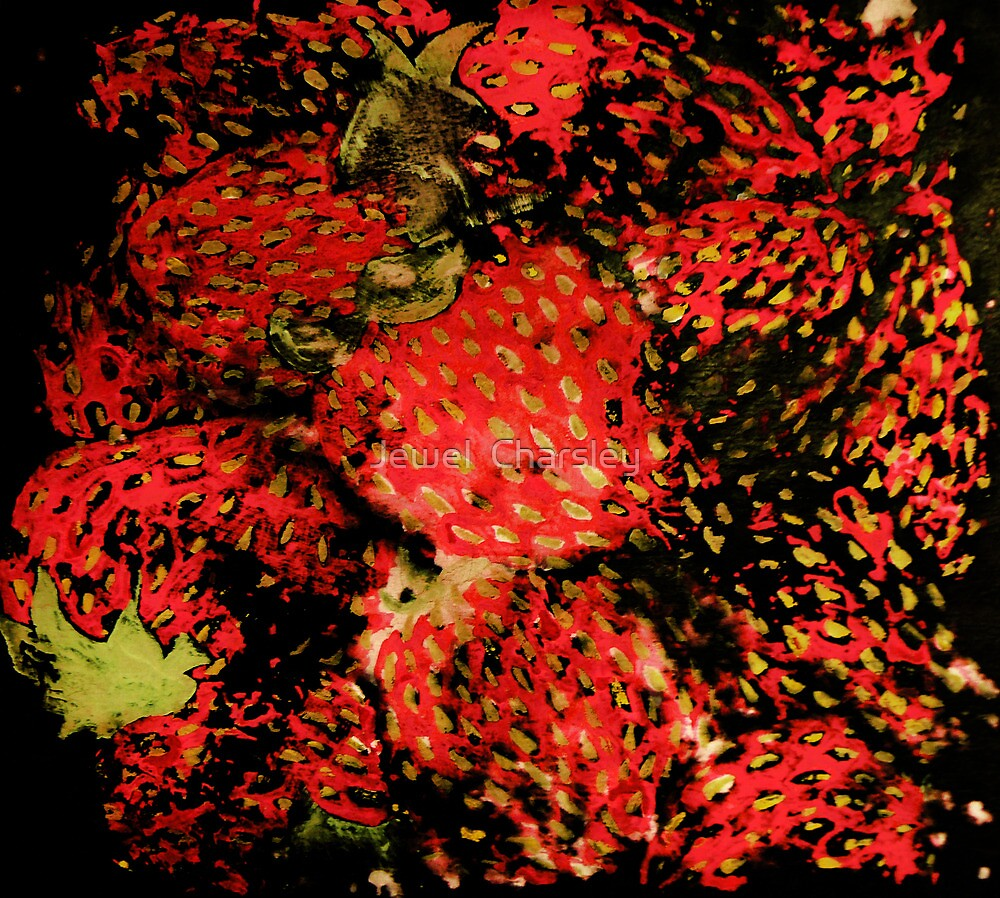 Distressed Strawberry Pile by Jewel  Charsley