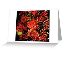 Distressed Strawberry Pile Greeting Card