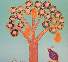 Partridge In A Pear Tree (Gold) by GlenyssJoy