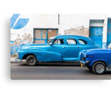 Blue, Blue and Blue Canvas Print