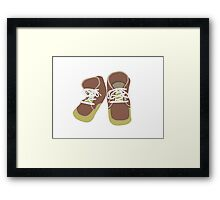 Brown Baby Shoes Framed Print