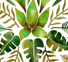 Tropical Symmetry – Olive Green Sticker