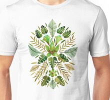 Tropical Symmetry – Olive Green Unisex T-Shirt