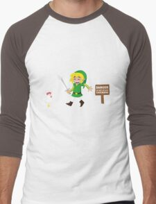Link and the chickens... Men's Baseball ¾ T-Shirt