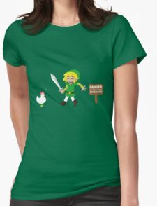 Link and the chickens... Womens Fitted T-Shirt