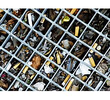 Street ash tray Photographic Print