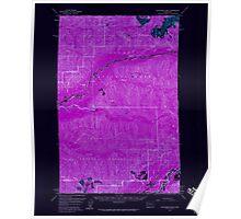 USGS Topo Map Washington State WA Kloochman Rock 241794 1956 62500 Inverted Poster