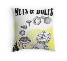 Crunchy Nuts (&Bolts)! Throw Pillow