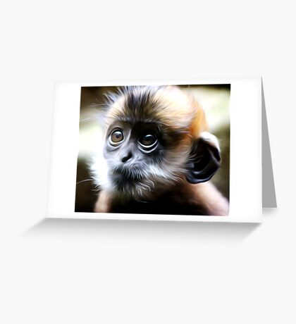 Babe - Oil Painting Greeting Card