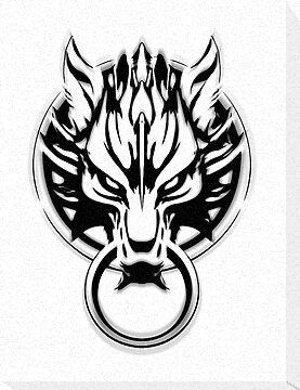 Cloud Strife's Wolf Emblem (Black) by Prime-Omega