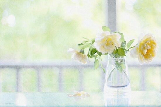 Pastel Roses by Elaine Teague