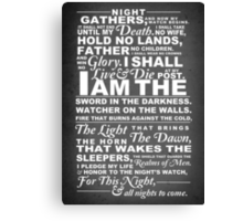 The Night's Watch Poster Canvas Print