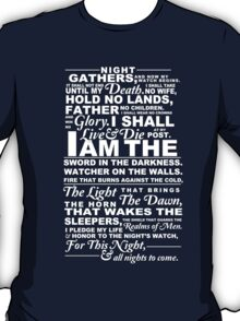 The Night's Watch Shirt T-Shirt
