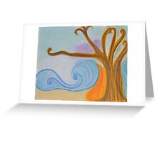 oil and wine Greeting Card