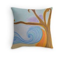 oil and wine Throw Pillow