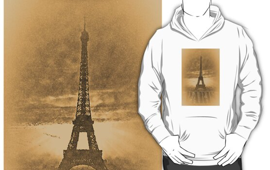 Vintage Eiffel Tower Paris #1 T-shirt by Nhan Ngo