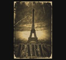 Vintage Eiffel Tower Paris #2 T-shirt by Nhan Ngo