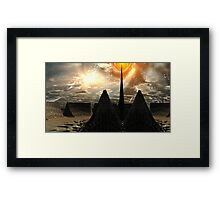 Star Temple Pyramid - Convergence Framed Print