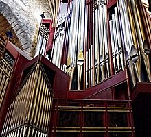 Organ at St Giles Cathedral Edinburgh by AmandaJanePhoto