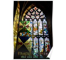 Stained Glass Window - St Giles Cathedral Edinburgh Poster