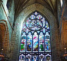 Stain Glass Window - St Giles Cathedral  by AmandaJanePhoto