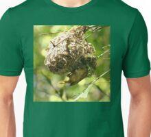 Golden Weaver Bird Caught Building His Nest Unisex T-Shirt