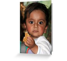 Ecuador: Wide-eyed Child in Quito Greeting Card