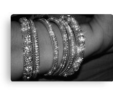 SHINING BANGLES   Canvas Print