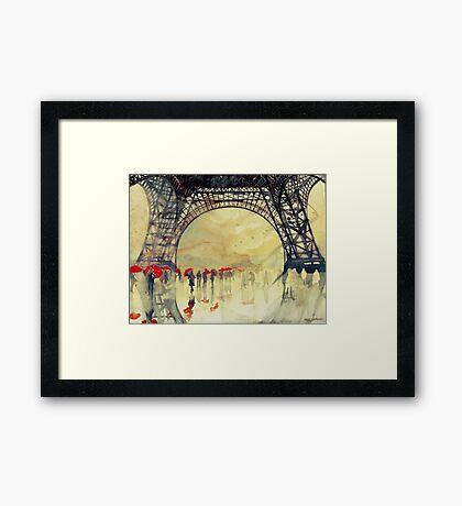 Under the Eiffel Tower Framed Print