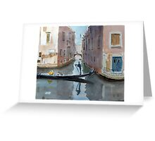 A quiet canal Greeting Card