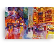Walk in New York Canvas Print
