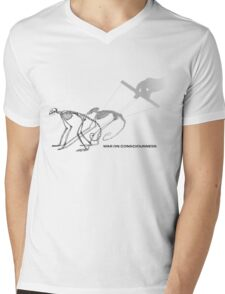 War on consciousness Mens V-Neck T-Shirt