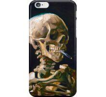 Head of a Skeleton with Lit Cigarette - Vincent van Gogh iPhone Case/Skin