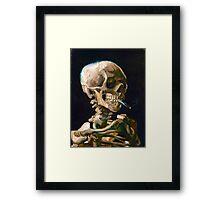 Head of a Skeleton with Lit Cigarette - Vincent van Gogh Framed Print
