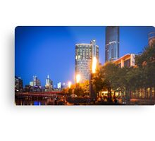 The Flames at Crown by the Yarra Metal Print