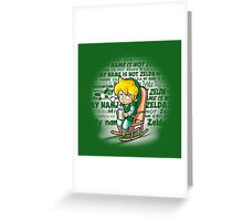 My name is not Zelda Greeting Card