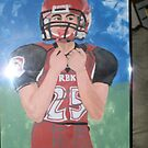 """ MY grandson Alex on HS football team "" by artbyjay"