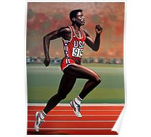 Carl Lewis painting Poster