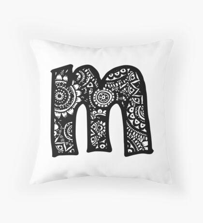 M Doodle Letter Throw Pillow
