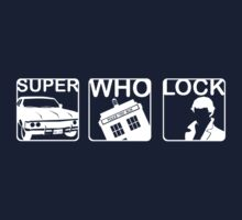 SuperWhoLock Horizontal Kids Tee