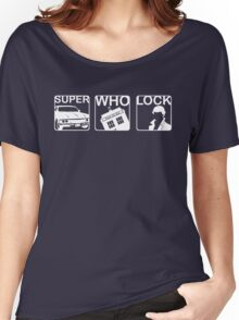 SuperWhoLock Horizontal Women's Relaxed Fit T-Shirt