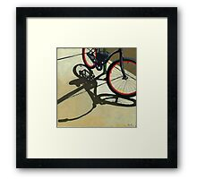 """Splash of Red"" - bicycle oil painting Framed Print"